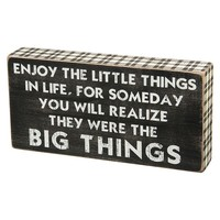 ''Little Big Things'' Wooden Box Sign Art