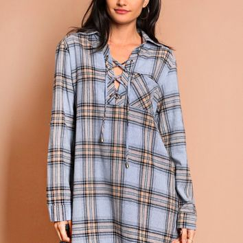 Love Letter Plaid Dress | Threadsence