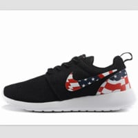NIKE Roshe run fashion leisure network sports shoes Black