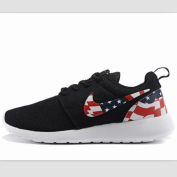 NIKE Roshe run fashion leisure network sports shoes Black 494c680f2