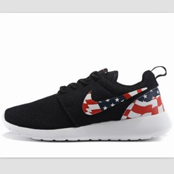 NIKE Roshe run fashion leisure network sports shoes Black 1dd949010