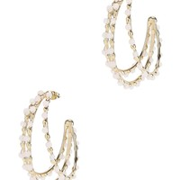 Angola Beaded Hoop Earrings