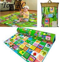 1.8x2M Baby Double Faced Playmat Animal Farm Carpet Infant Developing Letter Rug Mat Letter Puzzle Crawling Mat Climb Blanket