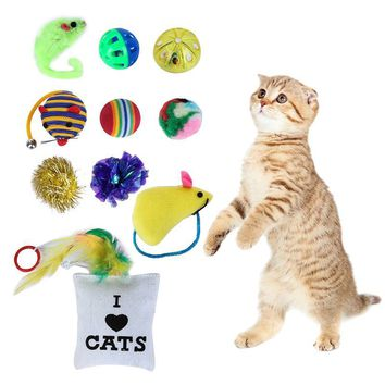 Pet Cat Toys Ball Bells Funny Small Mini Play Mouse Gift Pet Cats Animal Toys Dogs Kitten 10/14 pcs/set 2018