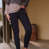 Starstruck Moto Jeggings - Denim Blue