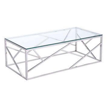 Cage Coffee Table Stainless Steel Polished Stainless Steel