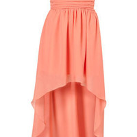 Mullet Hem Chiffon Bandeau Dress by Rare** - Dresses - Clothing - Topshop