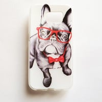 Samsung Galaxy S6 Dog In Glasses Case Soft Plastic Galaxy S6 Back Cute Samsung S6 Cover Funny S6
