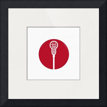 """Lacrosse Stick Circle Icon"" by Aloysius Patrimonio"