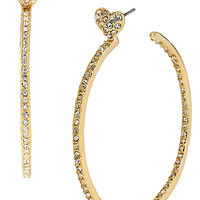 HOOP EARRINGS WITH HEARTS GOLD