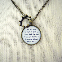 Lorde - Royals Inspired Lyrical Quote Pendant Necklace