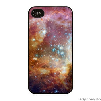 Galaxy iPhone Case - Space iPhone 5S Case Galaxy iPhone 5 Case Hubble iPhone 4S Case Stars Nebula Pink iPhone 4 Case : Silicone or Hard Case
