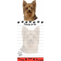 Yorkie Tall Magnetic Notepad
