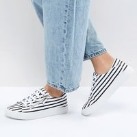 Stradivarius Stripe Flatform Trainer at asos.com