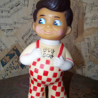 Vintage Bob's Big Boy Plastic Doll Bank--1973 Collectable Coin Bank--Change Bank--Big Boy Restaurants of America--Advertising