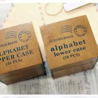 56 Pieces Antique Style Alphabet Rubber Stamps in Lower Case and Upper Case