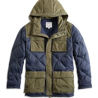 Lucky Brand Diamond Quilted Parka Mens - Blue/Green