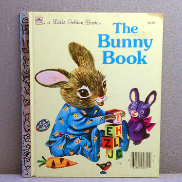 Vintage Children's Book - The Bunny Book Little Golden Book
