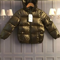 Moncler Children's wear winter blue Hooded down jacket/baby