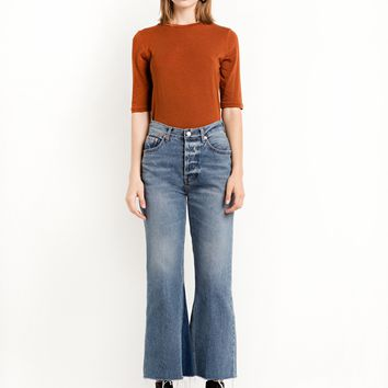 Marcy High Waisted Crop Flared Jeans