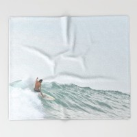 morning surf Throw Blanket by RichCaspian