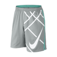 "Nike 9"" Court Graphic Men's Tennis Shorts Size Medium (Grey)"