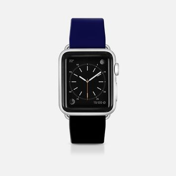 Classy navy and black  - Bicolor collection Apple Watch Band (42mm)  by WAMDESIGN | Casetify