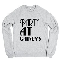 Party at Gatsby's-Unisex Heather Grey Sweatshirt