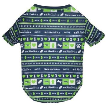 LMFON Seattle Seahawks Pet Novel-Tee