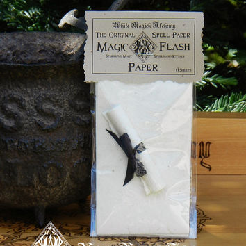 Magic Flash Paper . The ORIGINAL Sparking Spell Paper for a Fiery Spell Casting Display . Pagan Wicca Wiccan Witchcraft Magic