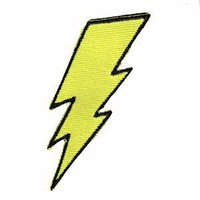 Fuzzy Dude Lightning Bolt Patch Accessories Patches at Broken Cherry