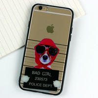 Cute dog Soft silicone Case For iphone 5 5s 6 6s 6Plus 6s Plus