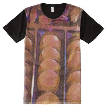 Chocolate All-Over-Print T-Shirt