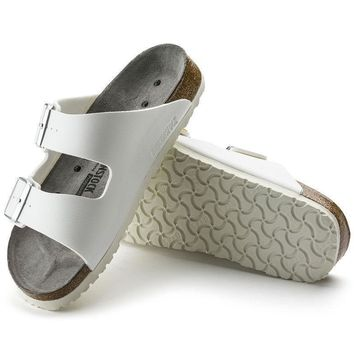 Sale Birkenstock Arizona Birko Flor White 0089410/0089418 Sandals