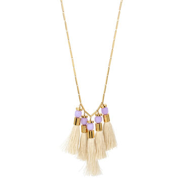 5 Tassel Necklace, Lavender