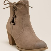Report - cathleen side lace-up bootie