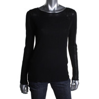 Theory Womens Keshi Ribbed Bateau Neck Pullover Sweater
