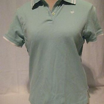Lilly Pulitzer Shirt Polo Women's Size Small Blue Short Sleeve Cotton Blend