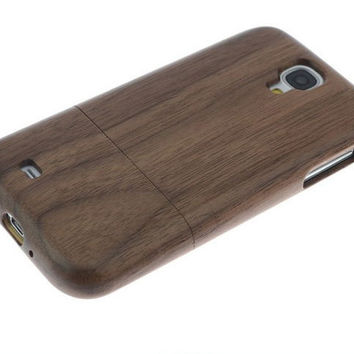 Wood Galaxy s4 Case | Walnut Samsung Galaxy S4 case Phone Wooden Cover | Galaxy 4