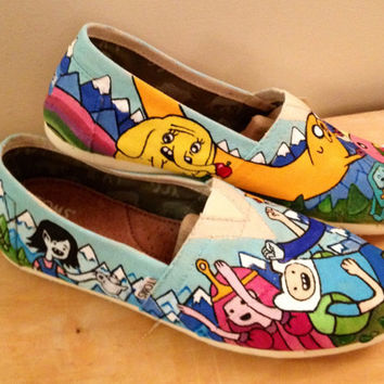 Adventure time inspired Tom shoes by InSensDen on Etsy