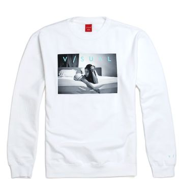 Visual by Van Styles Ponder Crew Fleece - Mens Hoodie - White