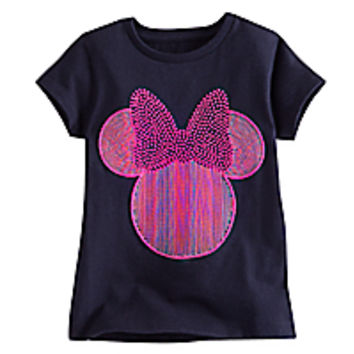 Minnie Mouse Icon Dazzling Tee for Girls