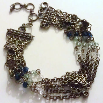 Bohemian Hippie Vintage Beaded Layered Bracelet