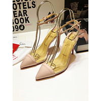 CL Christian Louboutin Women's Leather High-heeled Sandals
