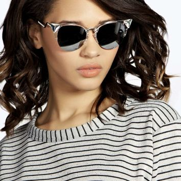 Samanta Penelope Winged Half Frame Sunglasses