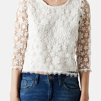 Topshop Crochet Lace Overlay