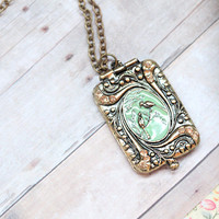 millie cove locket necklace - $14.99 : ShopRuche.com, Vintage Inspired Clothing, Affordable Clothes, Eco friendly Fashion