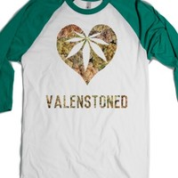 White/Evergreen T-Shirt | Funny Weed Valentines Shirts