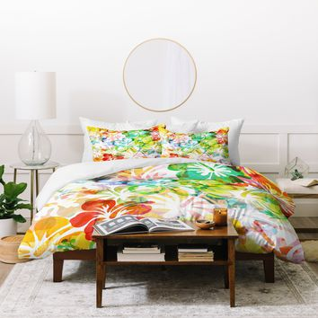 Fimbis Summer Flower Duvet Cover