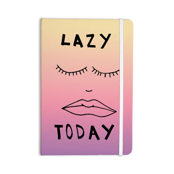 "Vasare Nar ""Lazy Today Tropical"" Yellow Pink Everything Notebook"